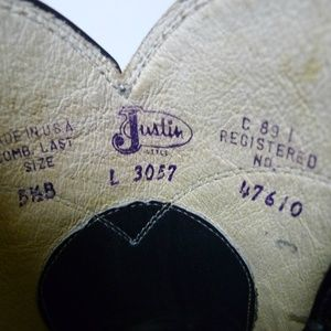 Justin Boots Shoes - Justin dark blue leather boots . made in USA
